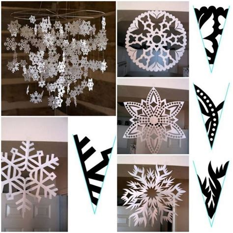 snowflake pattern how to how to make snowflake paper pattern step by step diy