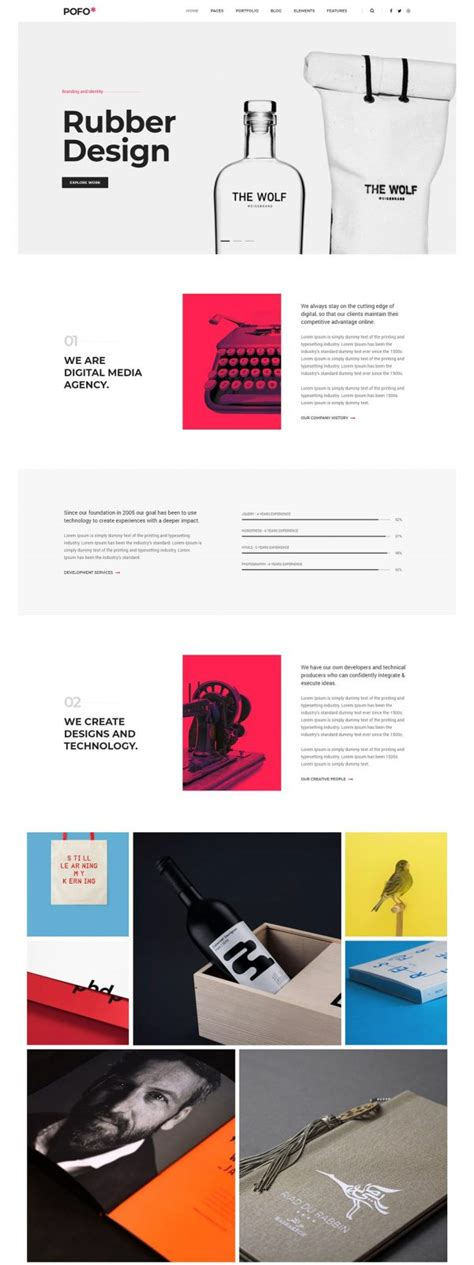 wordpress themes design inspiration pofo creative portfolio and blog wordpress theme