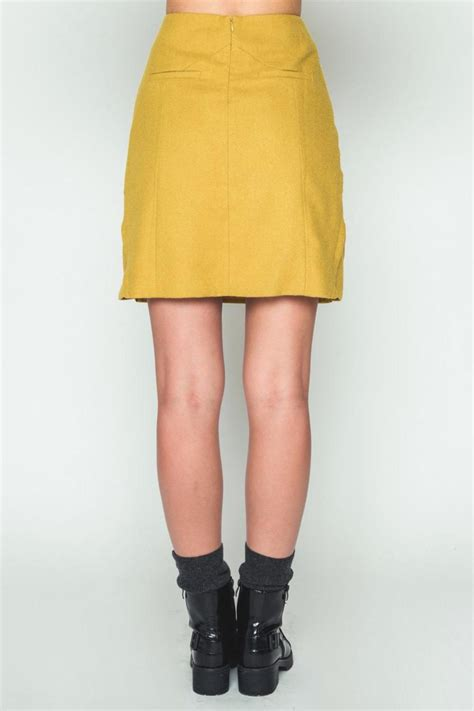 movint mustard h line skirt from soho by mo vint shoptiques