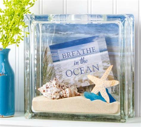 beach glass block ideas with shells seaglass amp christmas