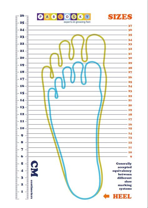 search results for printable shoe size chart