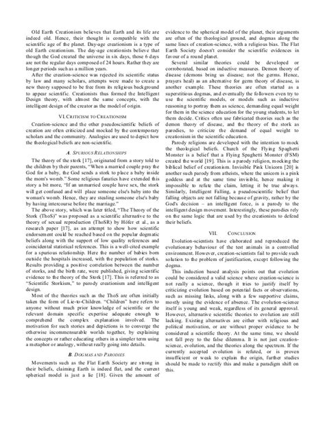 Creation Essay by Evolution Vs Creationism Research Paper
