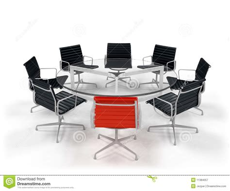 Business Table by Business Conference Table Royalty Free Stock Photography