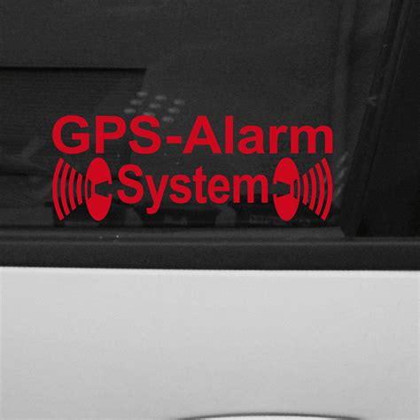 Aufkleber Entfernen Autoscheibe by 10 X Gps Alarm Aufkleber Rot Tattoo Folie Auto Haus