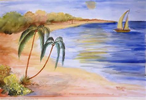 imagenes de paisajes en acuarela playa alfredo mors artelista com