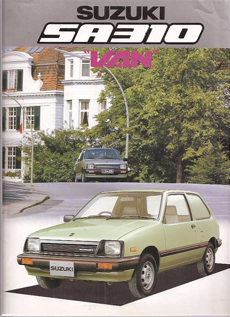 1985 Suzuki Sa310 Auto Manuals Sales Brochures Transportation Literature