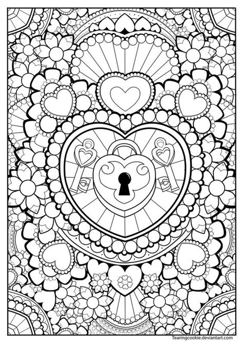 coloring page lock and key coloring page heart lock and keys coloring pages