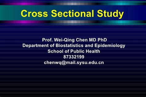 Cros Sectional Study by 3 Cross Sectional Study