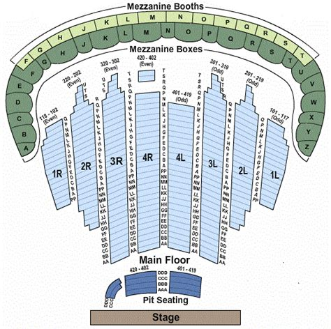 chicago theater floor plan chicago theatre seating chart main floor thefloors co