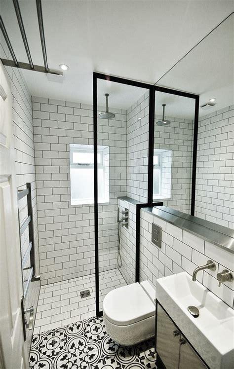 subway tiles  dark grout creates   cool