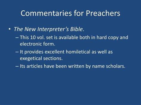 one new bible companion vol ii commentary articles books ppt preaching practicum powerpoint presentation id 178216