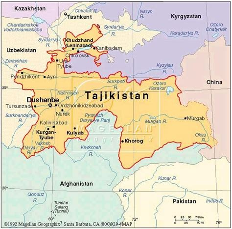 tajikistan map a world view tajik land giveaway