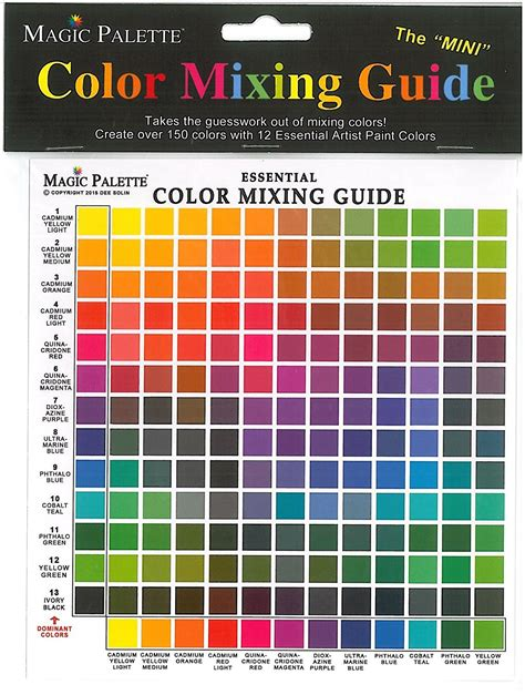 bob ross color palette magic palette artists color selector and mixing guide
