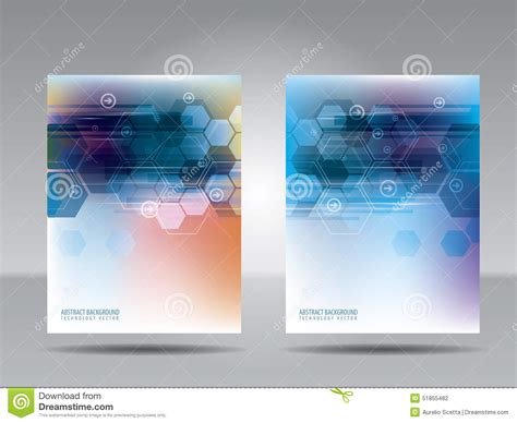 Brochure Template Flyer Card Or Banner Of Technology And Commu Stock Vector Image 51855482 Technology Banner Template