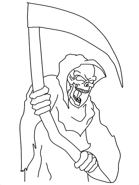 halloween coloring pages grim reaper 21 halloween coloring pages free printable word pdf