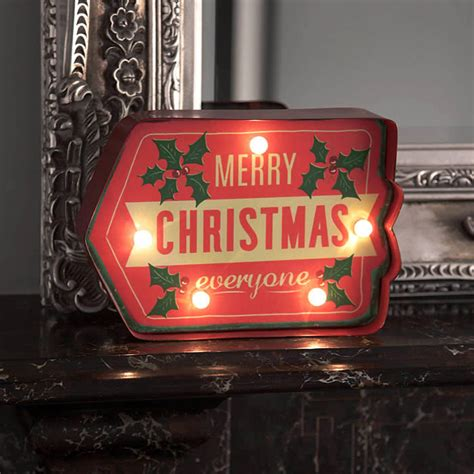 merry sign lighted merry lighted sign by temerity jones uk