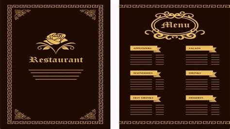 design online menu free menu design templates template ideas