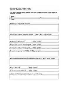 Client Assessment Form Template by Best Photos Of Instructor Evaluation Form Template