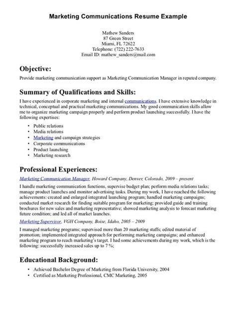 communication skills resume exles communication skills for resume http jobresumesle