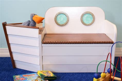 toy boat anchor toy box toy chest nautical toy box free shipping white