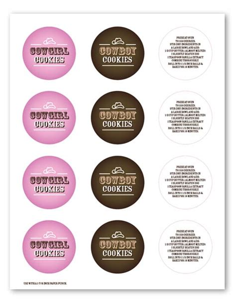 Mix Things Up Bakerella Com Cookies Label Template