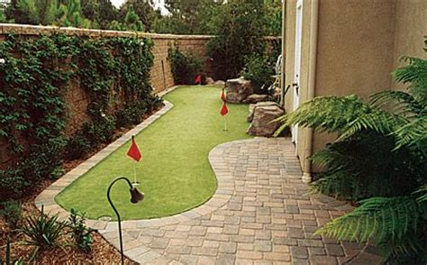 backyard putting green design me pretty