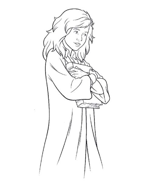 Hermione Granger Coloring Pages by Herimine Granger Free Colouring Pages