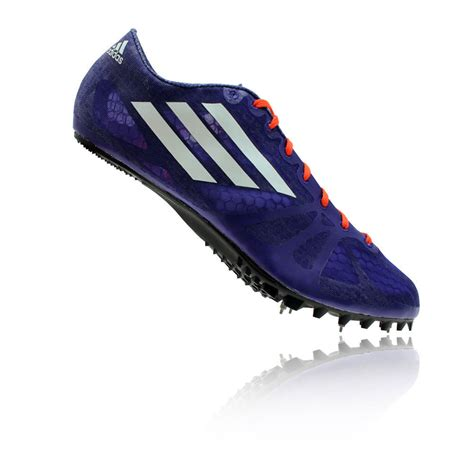 sneakers with spikes adidas adizero prime sp mens purple blue running sneakers