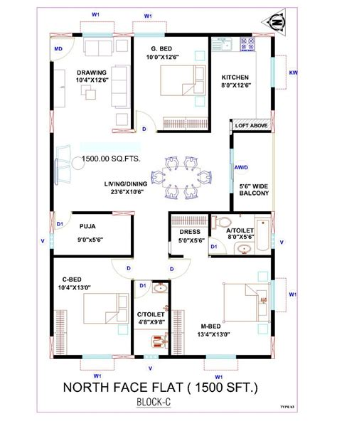 vastu floor plans north facing house plan house plan house plan north facing 2 bedroom