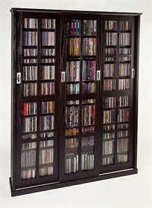 Sliding Door Dvd Cabinet Sliding 3 Door 1050 Cd Dvd Multimedia Storage Cabinet E Ebay