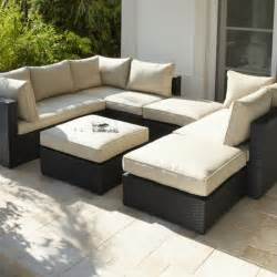 garden furniture rattan sofa rattan modular sofa and footstool from argos garden