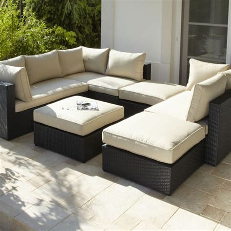 argos rattan sofa rattan modular sofa and footstool from argos garden