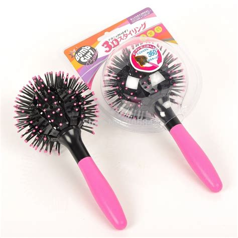 Sisir Brush 3d spherical comb japan for curling hair sisir rambut black pink jakartanotebook