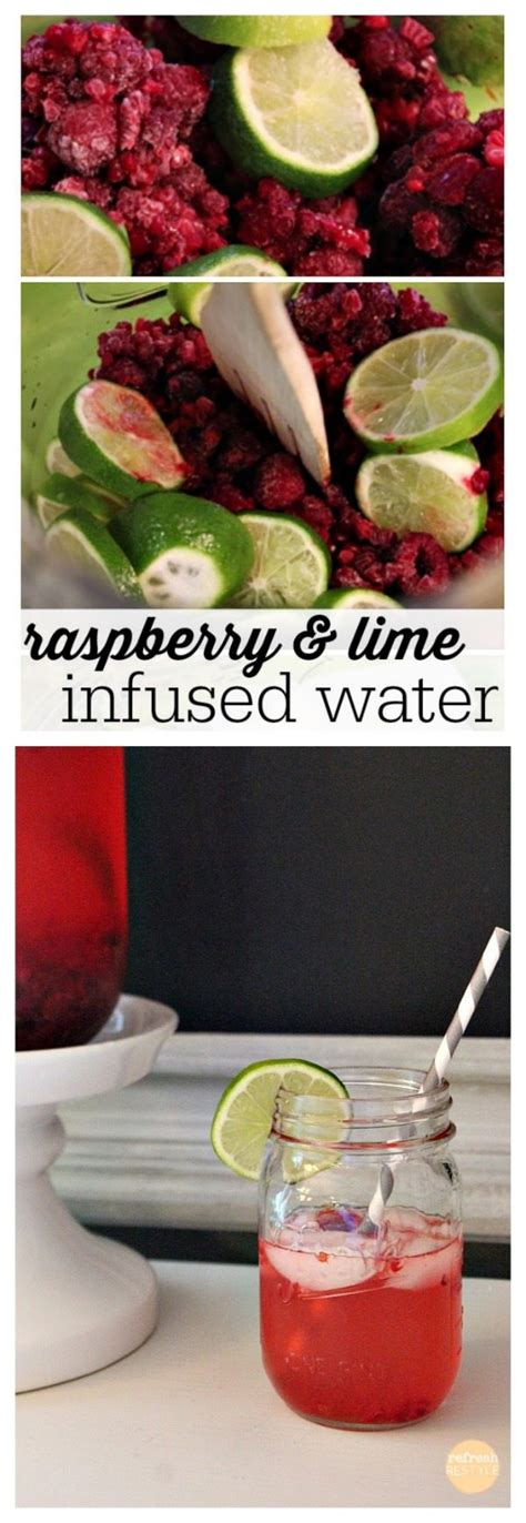 simply made with raspberry lime water raspberry and lime infused water recipe refresh restyle