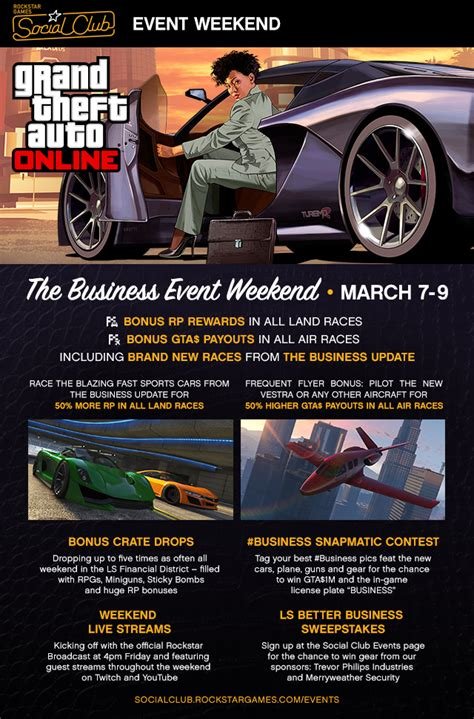 Social Events Of The Weekend gta 5 business weekend social club event kicks