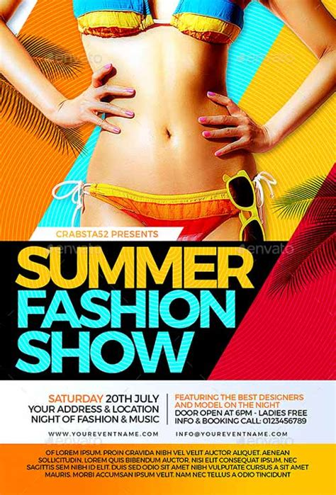 templates for fashion show flyers ffflyer download the summer fashion show flyer template