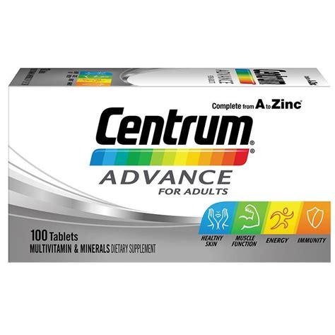 Centrum Advance 100tab buy centrum advance 100 tablets at chemist warehouse 174