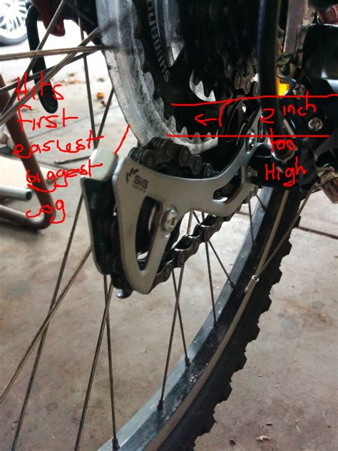 cassette shimano 14 34t megarange casette not shifting to gear bicycles stack exchange