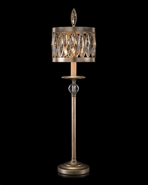 elk lighting 11218 3 abington antique brass 3 light antique crystal table ls reverse painted l shade
