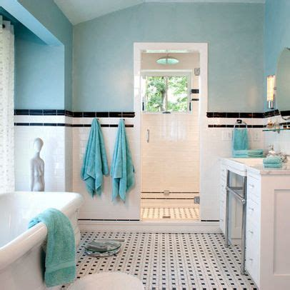 Teal And White Bathroom Black White Teal Room Ideas Bathroom Home Pinterest Painted Walls Black Trim And Tile