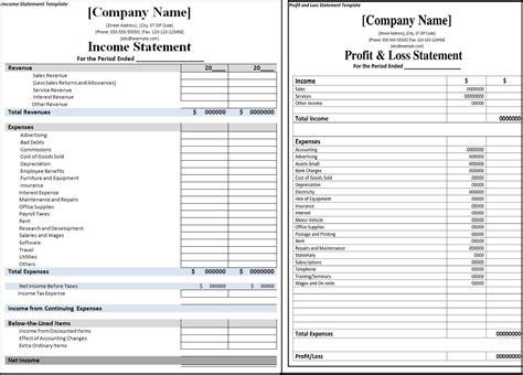10 restaurant income statement template sql print 7 sample
