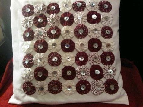 suffolk puff cushion cover   sew  applique cushion sewing  cut
