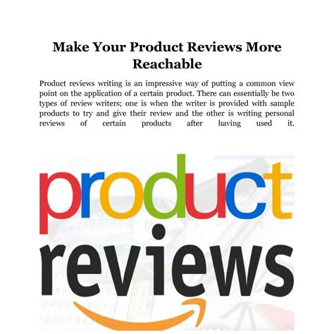 More Reviews by Make Your Product Reviews More Reachable Docx Docdroid