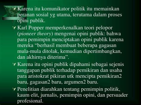 membuat opini publik ppt teori teori dasar komunikasi politik powerpoint