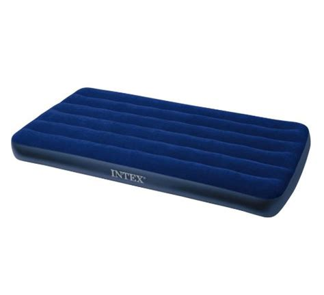 Intex Downy Air Bed Single Biru 68950 intex single size classic downy airbed 68757 equipment 4 cing