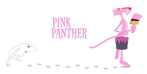 painting pink panther pink panther backgrounds wallpaper cave