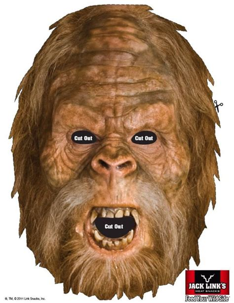 printable yeti mask 17 best images about squatch on pinterest bigfoot