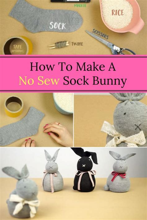 sock animals how to make no sew diy sock bunny home and gardening ideas