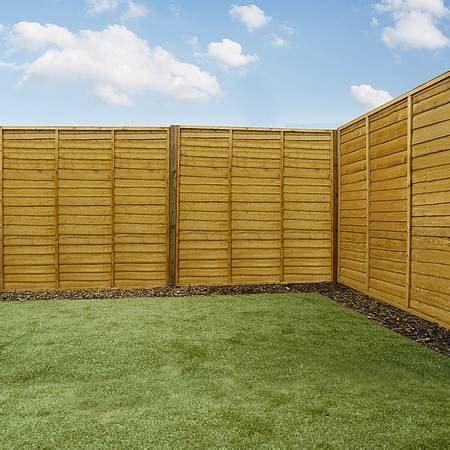 wood fence sections 6ft x 6ft waltons lap garden wooden fence panels waltons