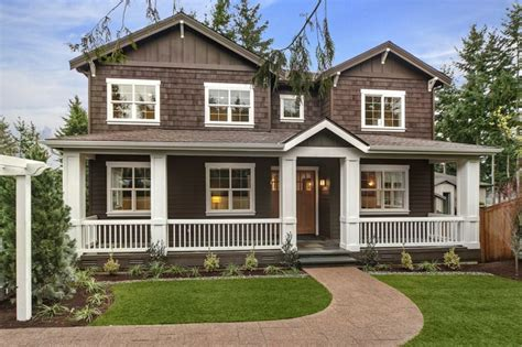 brown house with white trim search new
